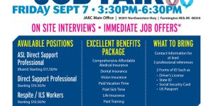 JARC To Hire 50 At Sept. 7th Career Event
