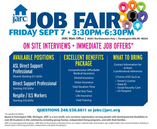 JARC job fair hiring event