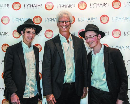Menachem Shagarotzky, 16, of Oak Park, Jeffrey Brodsky and Shalom Bronstein, 16, of Boston
