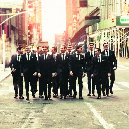 The Maccabeats in New York City. Julian Horowitz is on the far right.