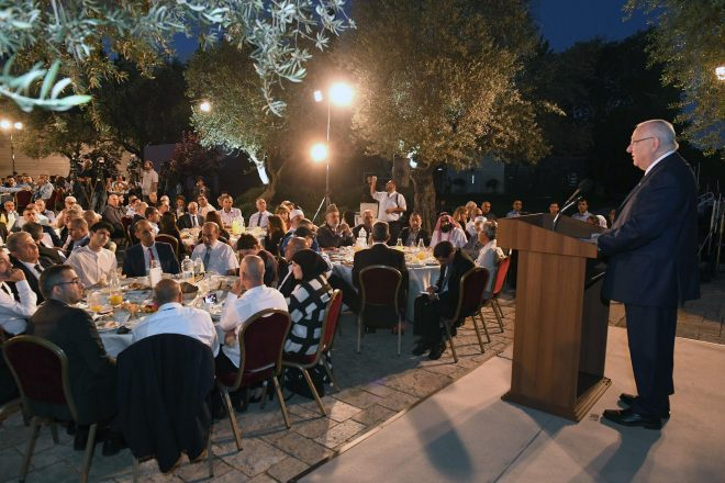 The president of Israel, Reuven Rivlin, hosted, as every year, a meal to break the fast of Ramadan (Iftar) for Muslim leaders and public figures in Israel. Monday, June 12, 2017. Photo Credit: Mark Neyman / GPO