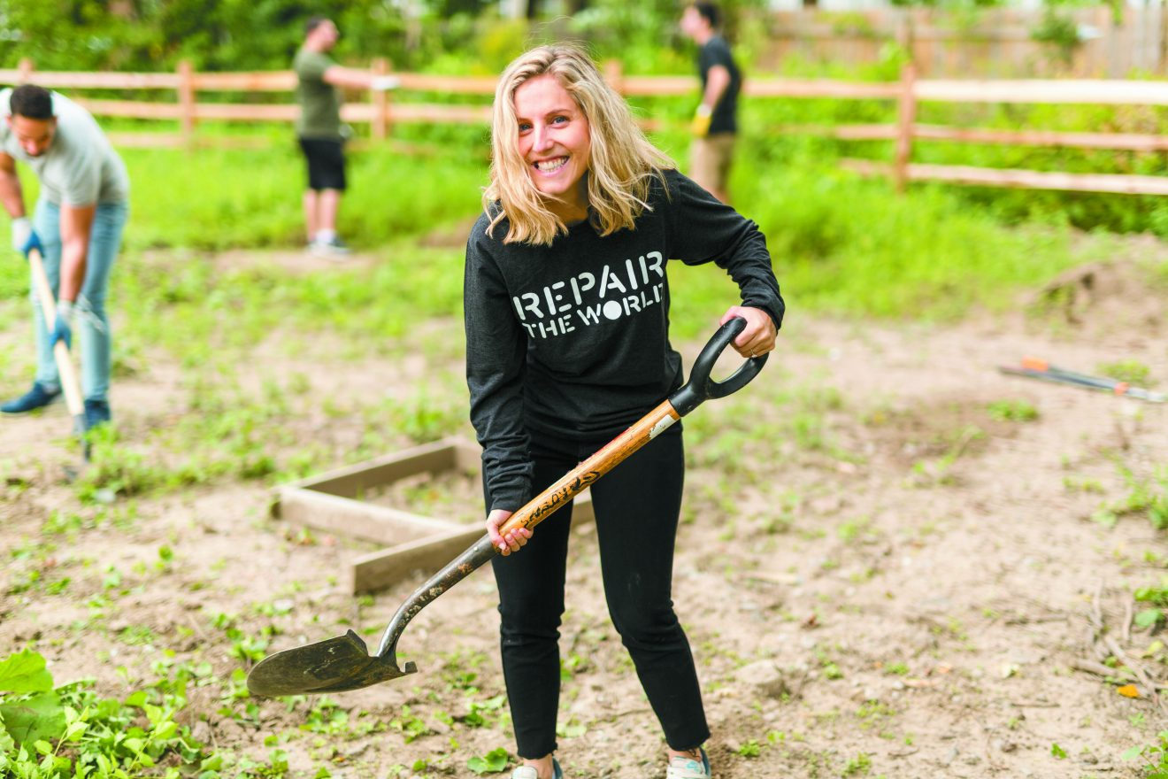 Sarah Allyn volunteers at Eden Gardens. Repair the world's new executive director