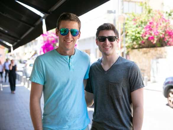 U-M Birthright: Noah Garber, Farmington Hills, a 2018 graduate, and senior Max Albert, Ann Arbor.