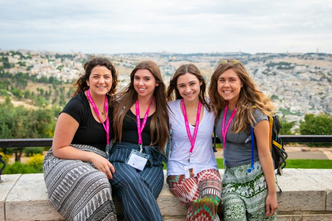 U-M 2018 graduates on Birthright this summer: Emily Bice, Carly Yashinsky and Madeleine Gonte, all of Bloomfield Hills and Rachel Harvey, Farmington Hills.