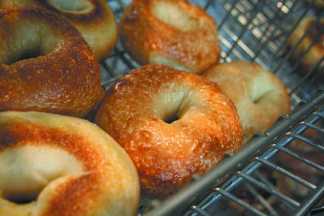 bagels from the Bagel Brothers Cafe