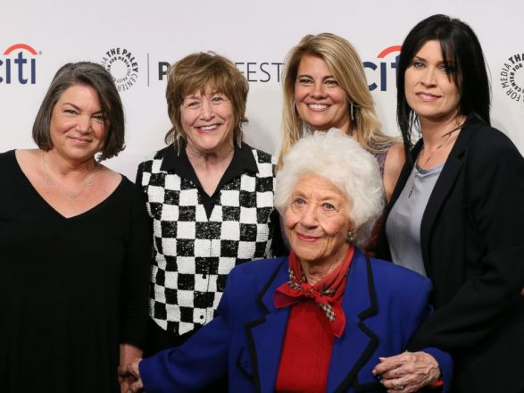 Mindy Cohn, Geri Jewell, Lisa Whelchel, Charlotte Rae and Nancy McKeon attend the 2014 PaleyFestFall on Sept. 15, 2014, in Beverly Hills, Calif.