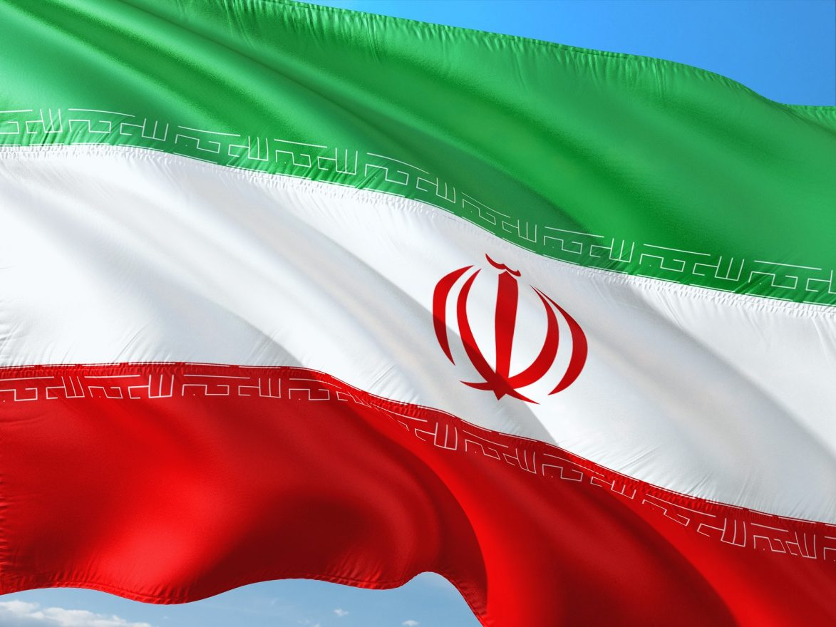 Iranian flag. Photo from pixabay. Iran is determined