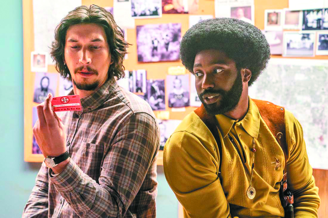 Adam Driver and John David Washington in BlacKkKlansman.