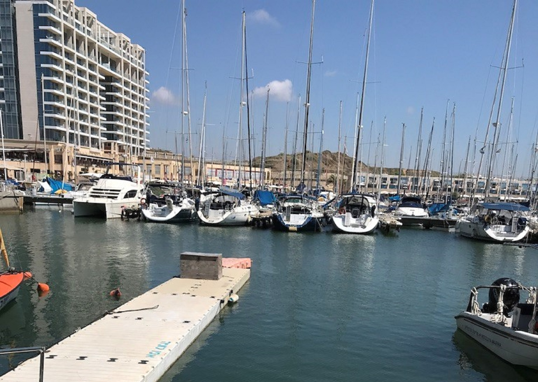 Yachts in a Tel Aviv marina. Tales From Israel.