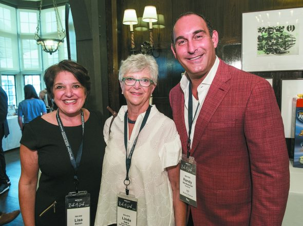 Lisa Bahm of Farmington Hills, event co-chair Linda Sahn of Orchard Lake and honoree Randy Wertheimer of Franklin, who received the Hermelin ORT Legacy Award.