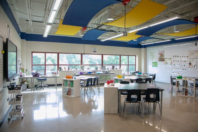 Detroit Country Day School VIVID classroom renovations.