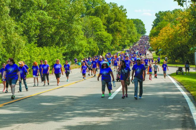 More than 4,000 participants took part in the event, which included a walk from the Friendship Circle to the Soul Café, both in West Bloomfield.