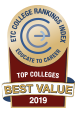 Educate To Career (ETC) Top colleges Best Value 2019 logo.