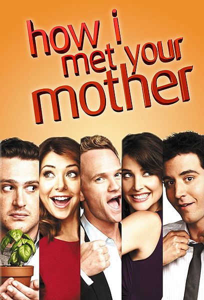 how i met your mother poster with each character making a silly face.