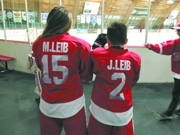 Cousins Morgan and Jenner Leib played for the Detroit hockey team.