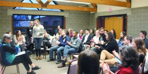 Cherie Brown, founder and CEO of the National Coalition Building Institute in Silver Spring, Md., conducted an anti-Semitism training at U-M Hillel early this year. Credit: U-M Hillel