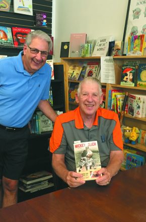 Robert Pliskow of Huntington Woods with Mickey Lolich at an event last month. Pliscow and Freedman will be at the Tigers game Sept. 8.
