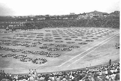 The opening ceremony of the Third Maccabiah Games.