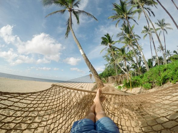beach, hammock, hula, metallic