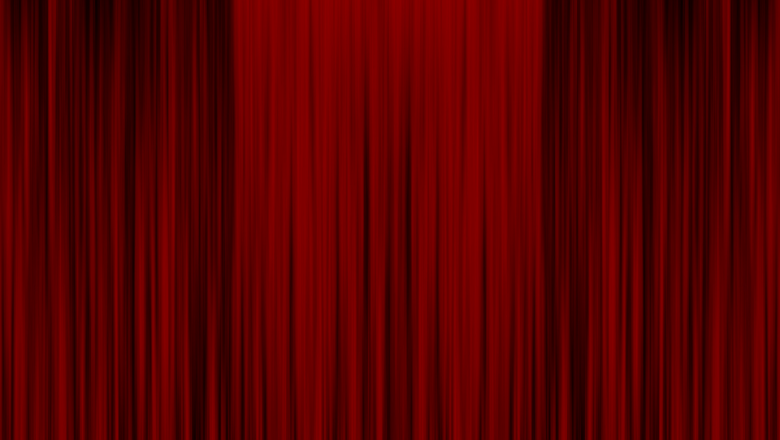 red theater curtain