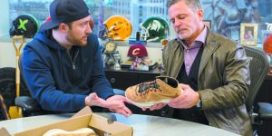 StockX CEO Josh Luber with company co-founder Dan Gilbert, founder and chairman, Quicken Loans and Rock Ventures, and chairman of the Cleveland Cavaliers.