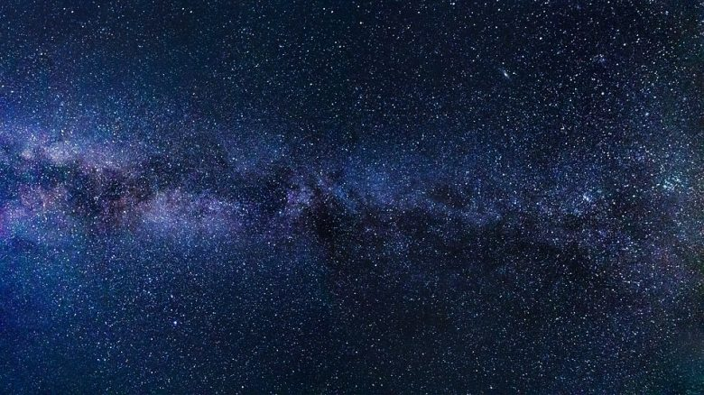 milky way in space to represent Ofek 1