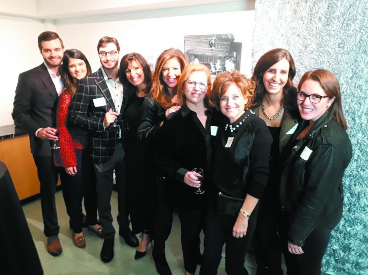 Evan Freed, Emily Finn, Derek Freed, all of Detroit; Sandy Armeland of Toronto; Suzi Orman, Shelley Alexis and Natalie Freed Newman, all of Detroit; Jenna Armeland of Toronto and Blair Lexus of Detroit.