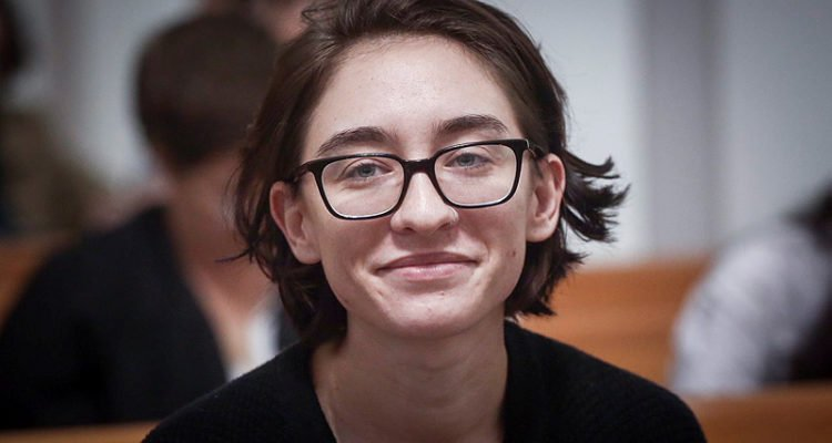 Lara Alqasem at the Supreme Court in Jerusalem, October 17, 2018.