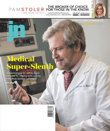 Detroit Jewish News October 11, 2018 issue cover featuring Dr. Jeffrey Band/courtesy Beaumont Health System. Cover design by Michelle Sheridan