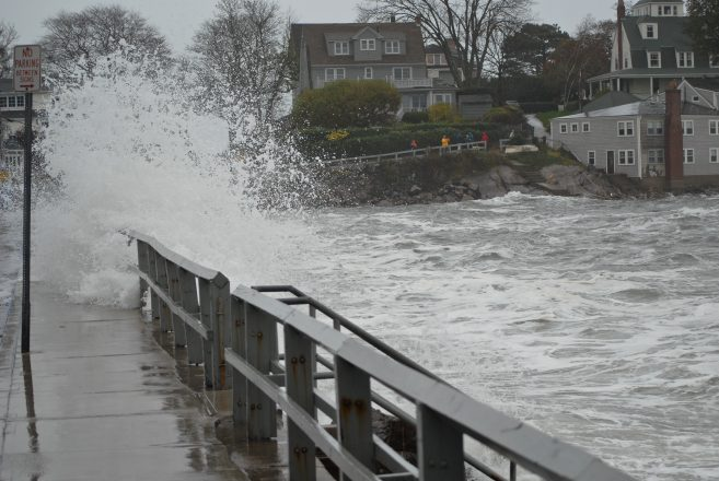 Flooding in Marblehead, Mass., during Hurricane Sandy, 2012