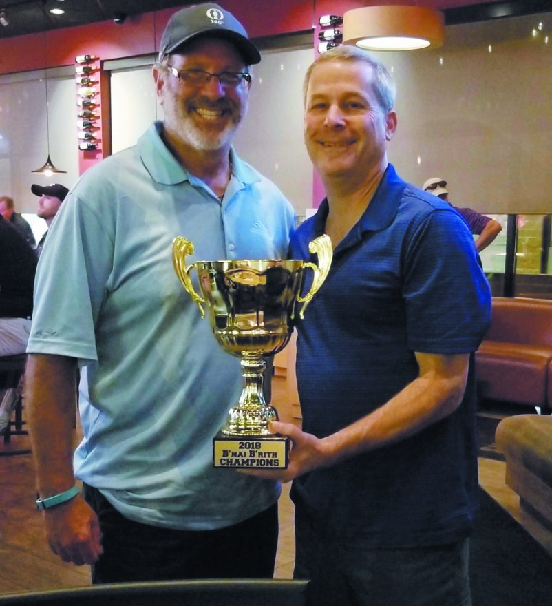 B'nai B'rith golf league champs Gary Klinger and Dale Taub