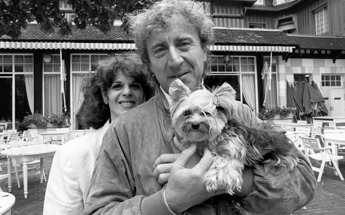 Gilda Radner with Gene Wilder and a puppy