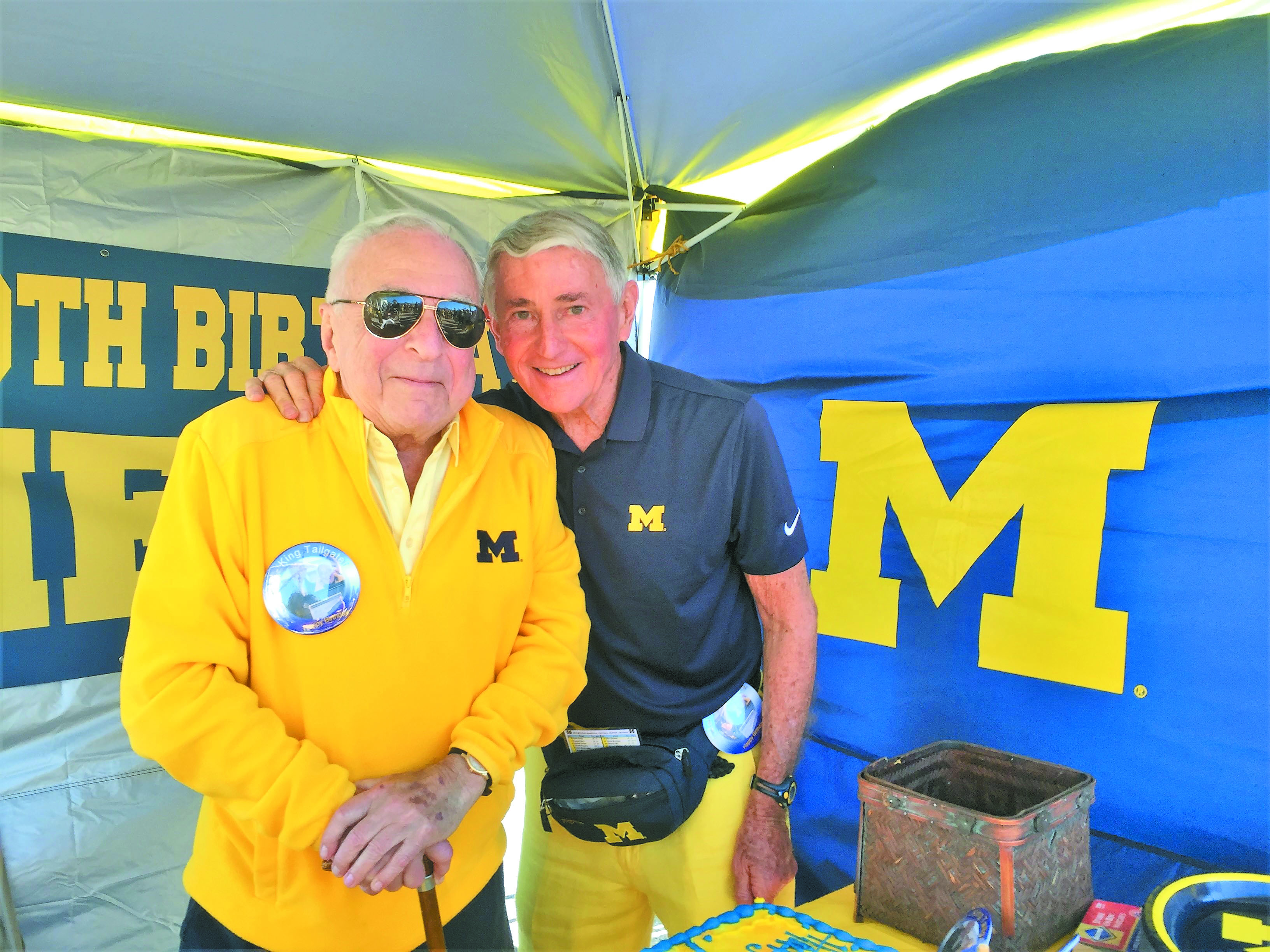 Mel Lester and Ira Jaffe have hosted U-M tailgate parties for nearly 50 years and have hosted about 100,000 people. They are honorary co-chairs of the JCC event.