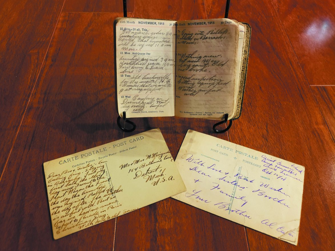 Samuel Curtis's WWI/Great War diary and two letters from the War.