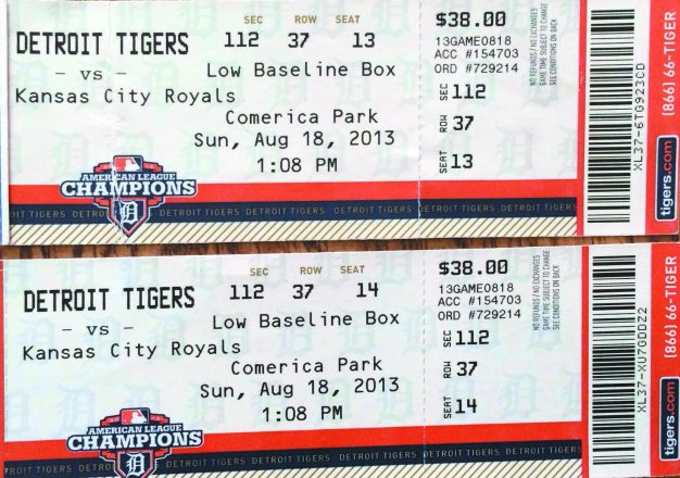 Chuck Freedman still has the tickets from the Aug. 18, 2013, Detroit Tigers game.