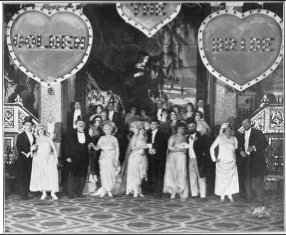 Still from 1923 productions of Di goldene kale.