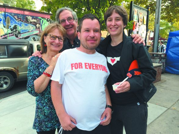 A family dedicated to inclusion: Janice Fialka and Richard Feldman with their children Michah and Emma.