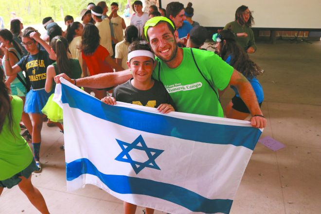 The spirit of Israel is alive during this dance session.