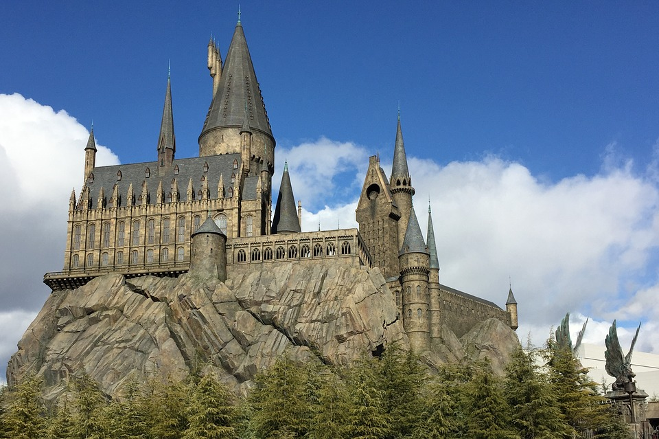 Hogwarts castle from the Wizarding World of Harry Potter