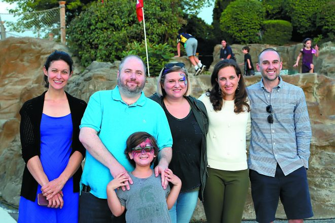 Alison Howard of Troy with Mini Golf Classic co-chairs Jared, son Milo and Lisa Rothberger of Bloomfield Hills, and Kathy and Michael Rothstein of Birmingham