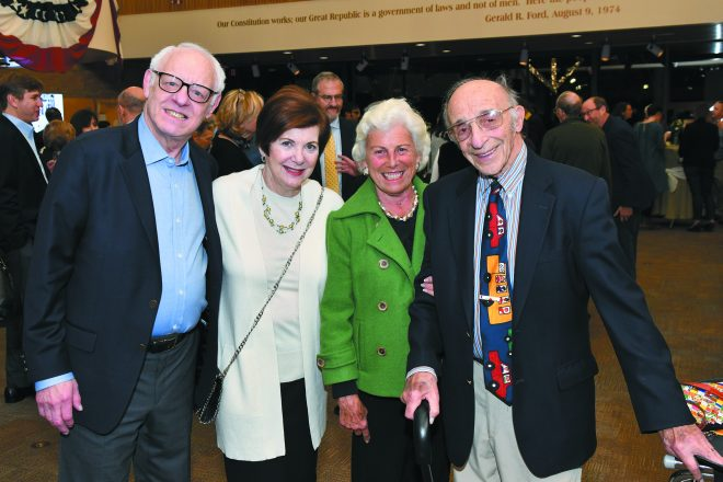 Dede and Jerry Weinberg of West Bloomfield, and Nancy and Phil Margolis of Ann Arbor.