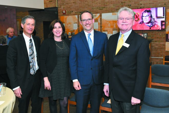 Arthur Horwitz, Kari Alterman of the William Davidson Foundation, Davidson Foundation CEO Darin McKeever and Terry McDonald.