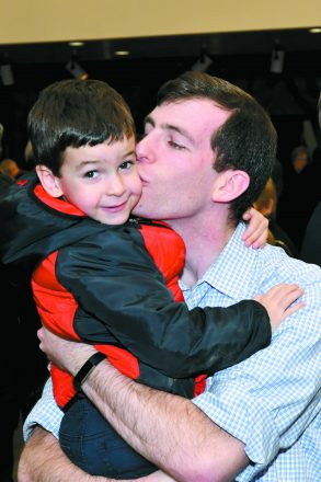 Dr. Adam Horwitz and son Benjamin of Ann Arbor