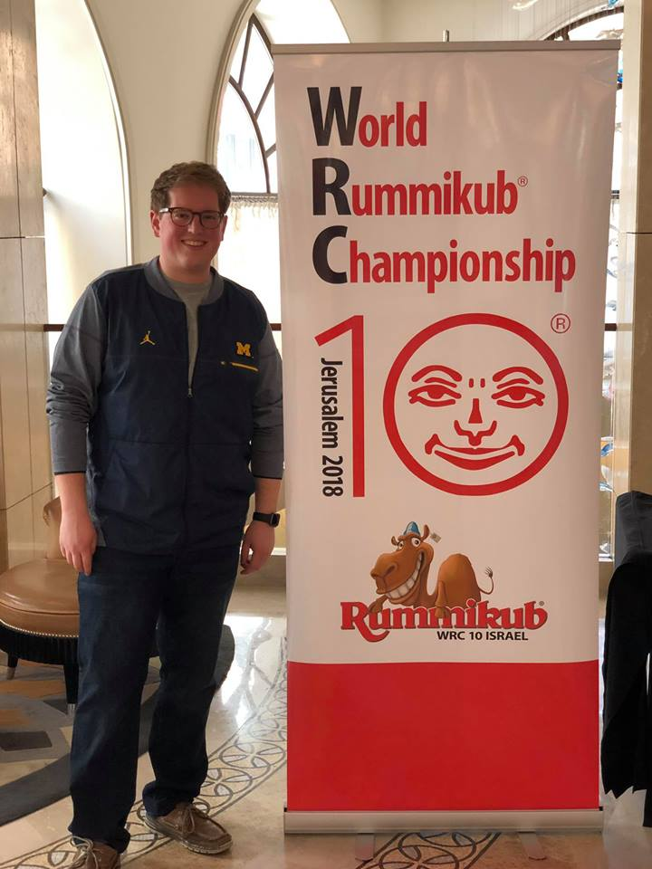 U.S. Rummikub champ Josh Morof of West Bloomfield in Jerusalem for the international championship.