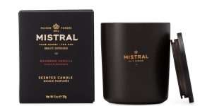 Mistral soaps and a scented candle