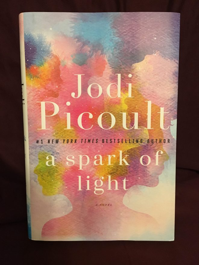 "a close up on the book ""A Spark of Light"" by Jodi Picoult"
