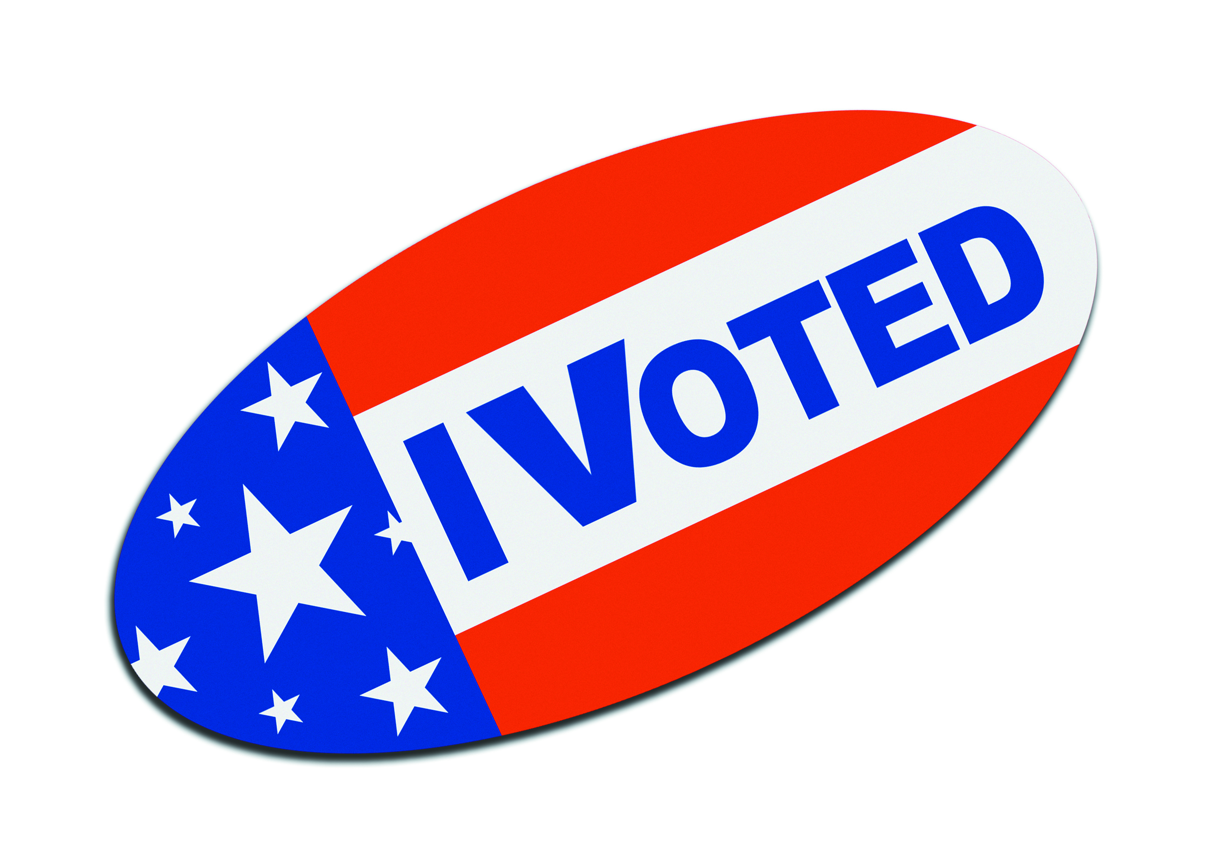 I Voted American USA Sticker Isolated on White Background.