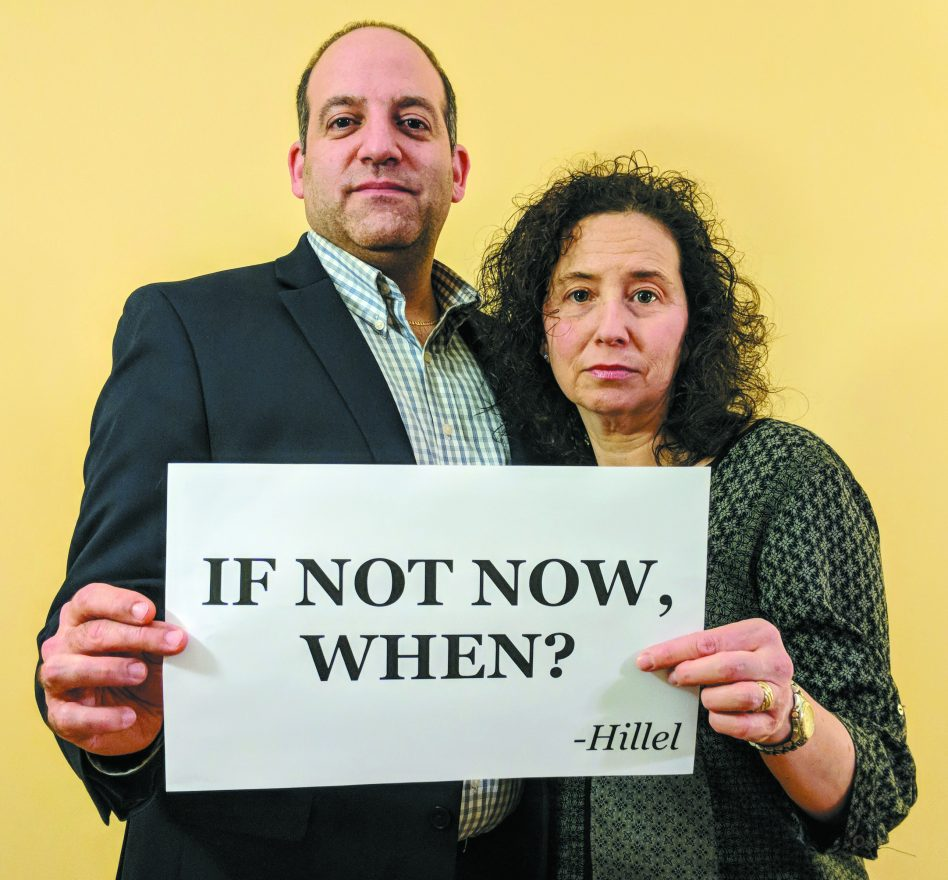 Rabbis Alex and Amy Greenbaum of Beth El Congregations in Pittsburgh in a Twitter post against gun violence in February.