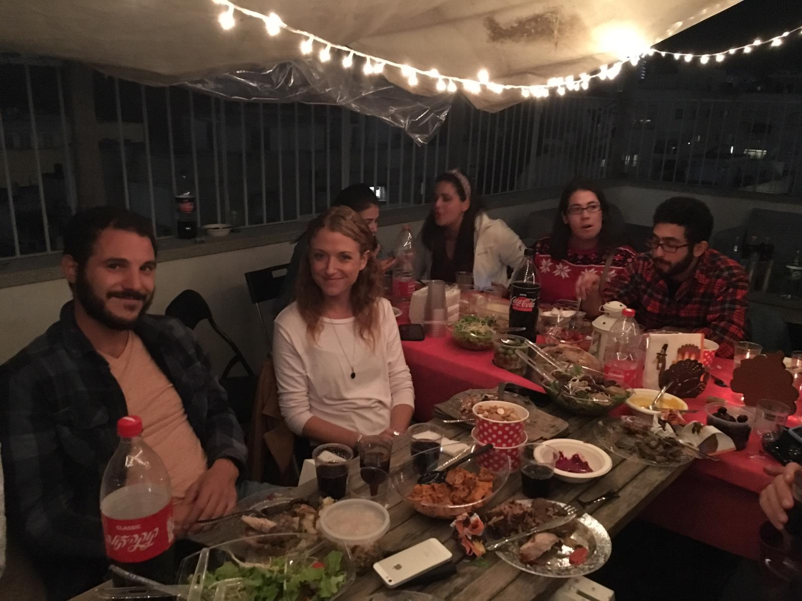 Detroiters in Israel celebrate Thanksgiving together.