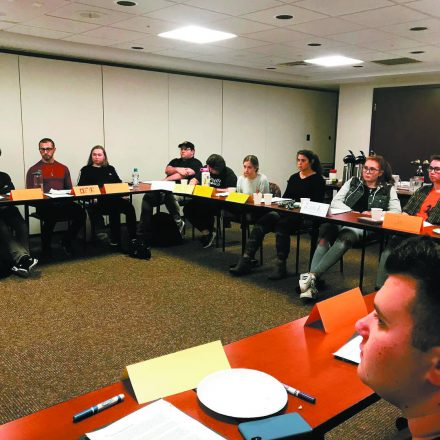 Students participate in a J-Talk discussion session.